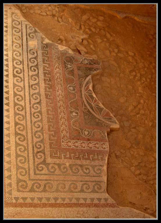 Мозаика в одной из римских бань - Крепость Масада