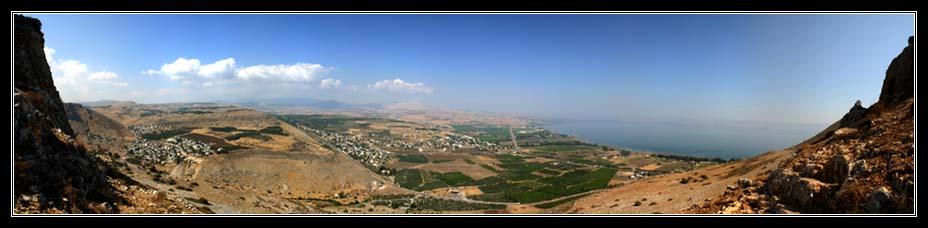 Панорама нижней и верхней Галилеи с Арбеля