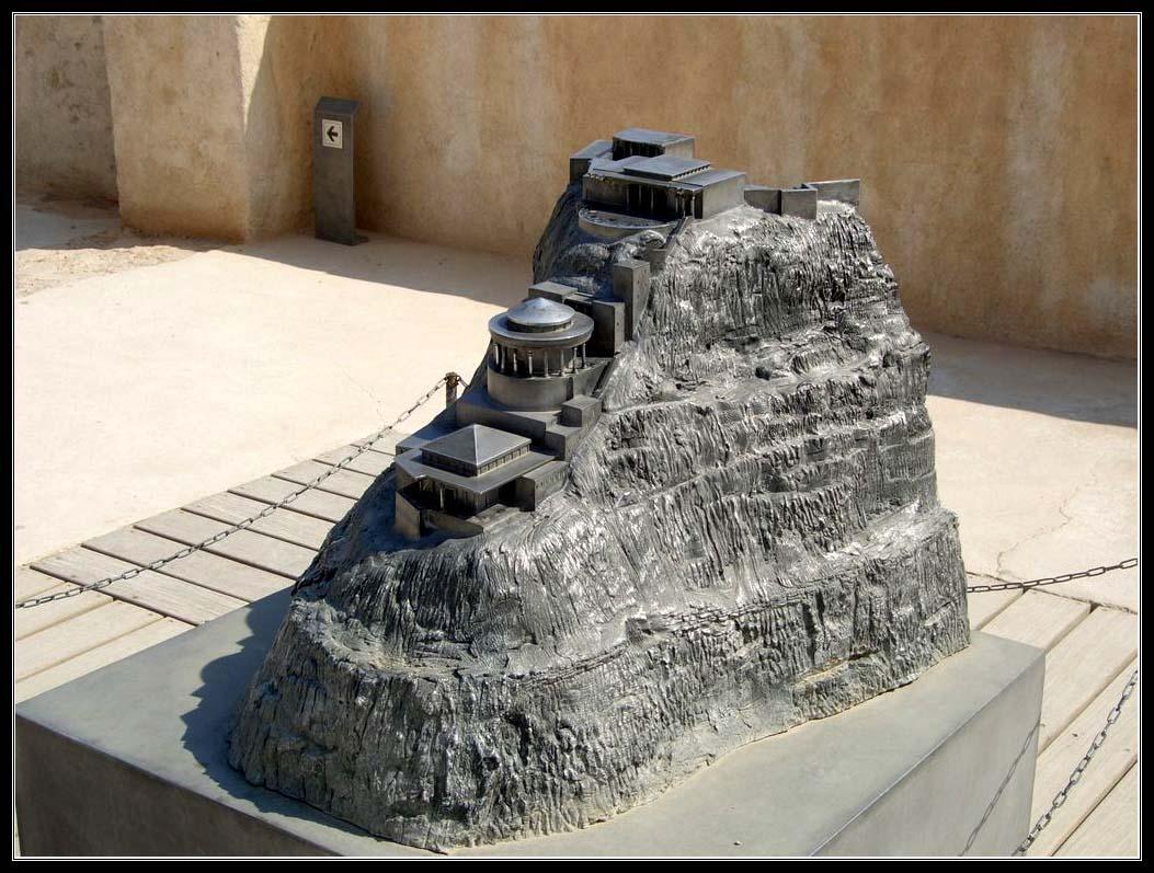 Макет северного дворца Ирода на Масаде