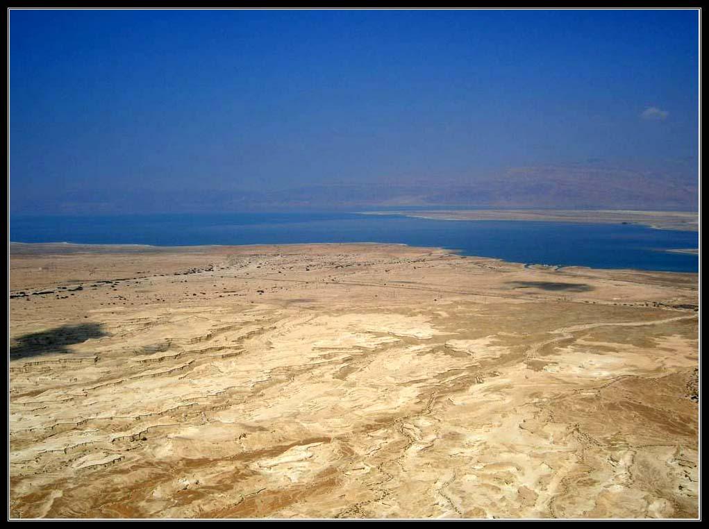 Вид с крепости Масада на Мертвое море