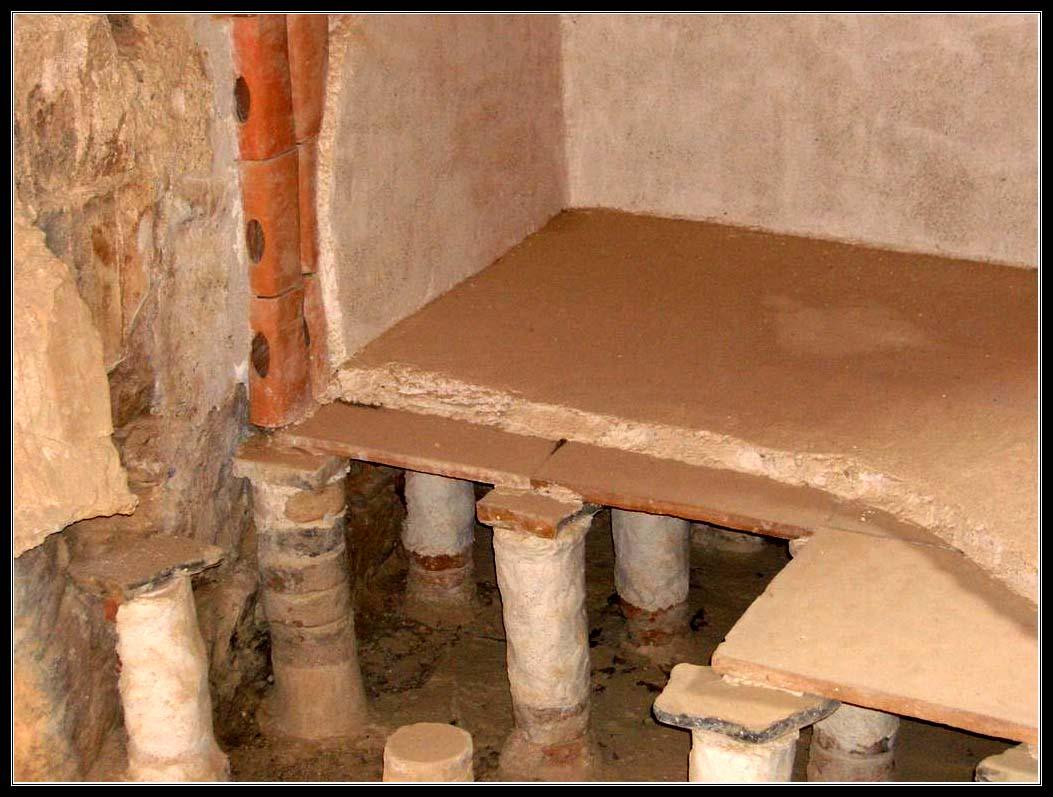 Устройство римской бани в крепости Масада