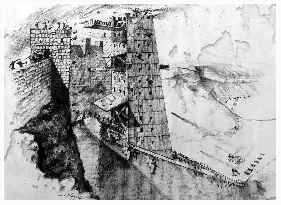 Осадная башня - штурм крепости Масада