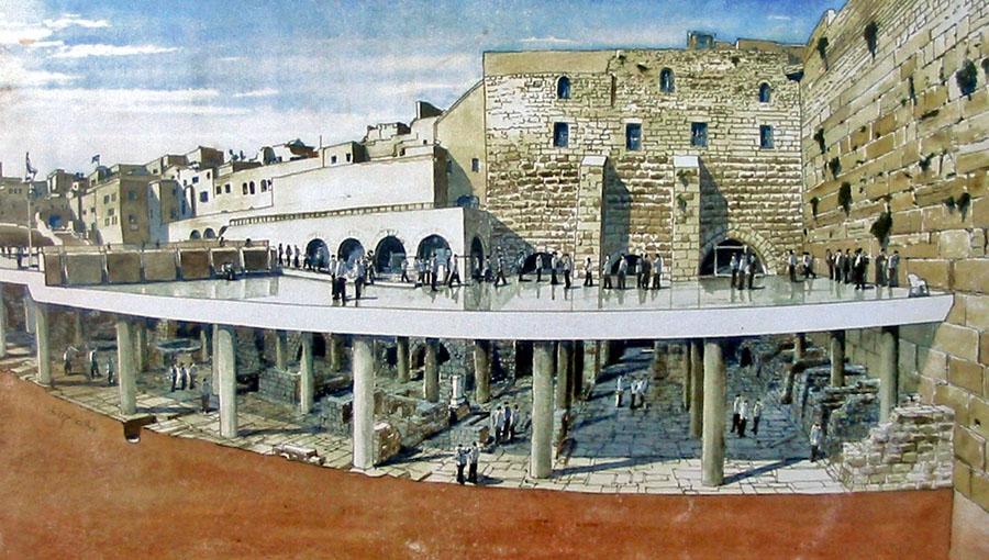раскопки у стены Плача