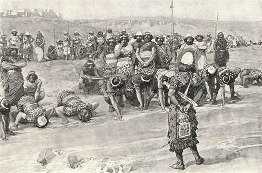 Гидон (Гидеон) у источника выбирает 300 воинов