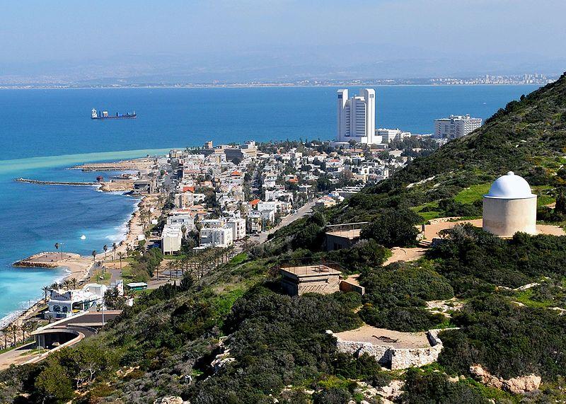 Гора Кармель - вид из Хайфы