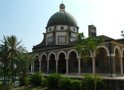 здание церкви на горе Блаженств