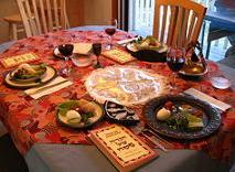уидейская пасха - праздничный стол - песах