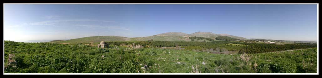 География верхней Галилеи - панорама с севера озера Кинерет