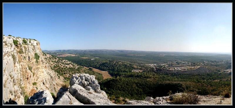 центральная часть верхней Галилеи - вид с горы Арбель