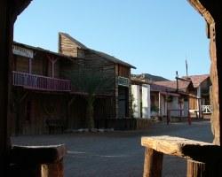 Вид улицы на техасском ранчо - эйлат - Израиль