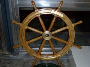 Штурвал ставшего знаменитым в 2002 году корабля «Карин Эй»
