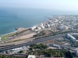 Вид с фуникулера - канатной дороге - Хайфа