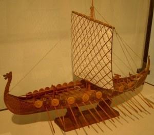 макет деревянного корабля - морской музей - Хайфа