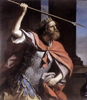Царь Саул - Шауль с копьем в руке