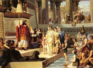 Царь Соломон в своем дворце принимает царицу Савскую - Иерусалим