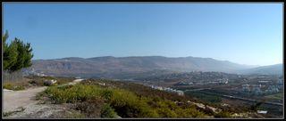 Галилея - вид на город Кармиэль, долину бет ха керем и верхнюю галилею