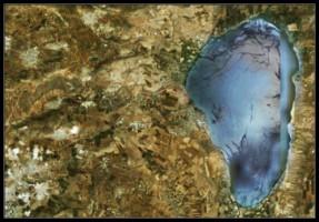Галилейское море - Кинерет вид со спутника