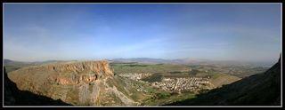 Вид на гору Нитай с горы Арбель - Нижняя Галилея