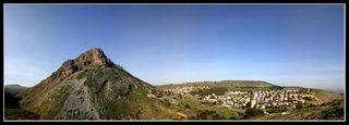 Вид на гору Нитай с горы Арбель - Нижняя Галилея - География Израиля