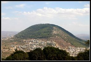 Вид на гору Тавор (фавор) - Нижняя Галилея - География Израиля