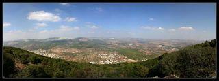 Вид с горы Тавор (фавор) - Нижняя Галилея - География Израиля