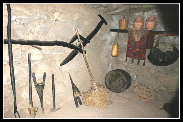 Голанские Высоты - Музей на територии парка кацрин - орудия работы