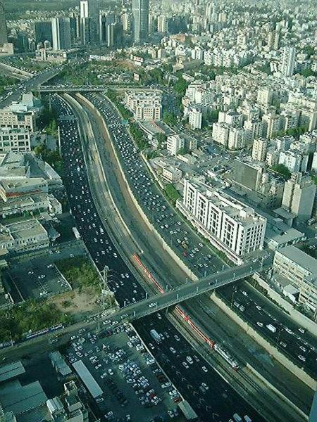 Вид на междунароное шоссе - израиль