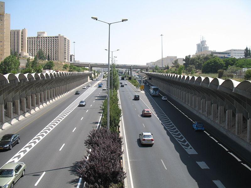 шоссе в Иерусалиме - Израиль