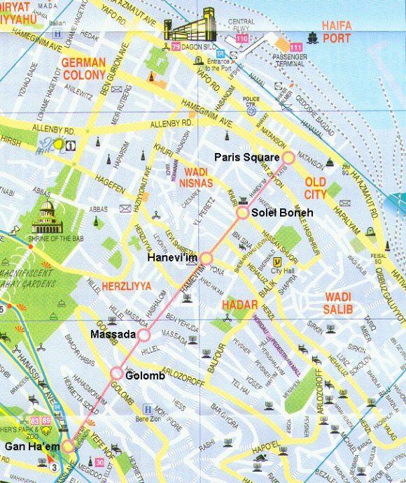 Карта Хайфовского метро -