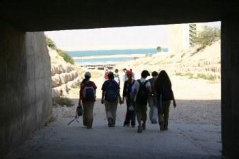 Выход из под моста, по дороге от Эйн Бокек к Мёртвому морю