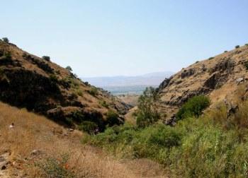 Вид на долину Хула с маршрута Джилабун - Гильбон - Голанские высоты - Израиль