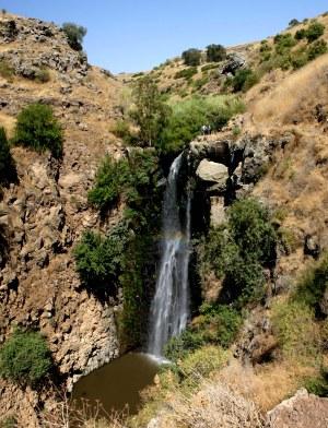 Вид на водопад Джилабун - Гильбон - Голанские высоты - Израиль
