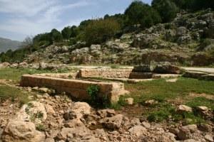 Строение вокруг родника в нахаль хилазон Эльон - нижняя галилея - Израиль