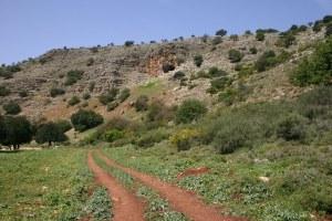 Вид маршрута нахаль хилазон эльон - нижняя галилея - Израиль