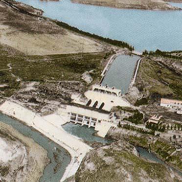 Гидроэлектростанция нахараим - фотография с воздуха