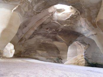 колокольные пещеры бейт гуврин - камнедобыча
