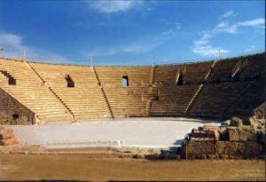 театр в национальном парке Кейсария - Израиль
