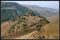 Гамла расположенная на горном хребте