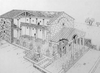 реконструкция - макет синагоги в национальном парке коразим - хоразин