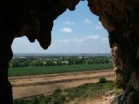 вид из пещеры Меарат ха Нахаль в нахаль меарот где показывают фильм