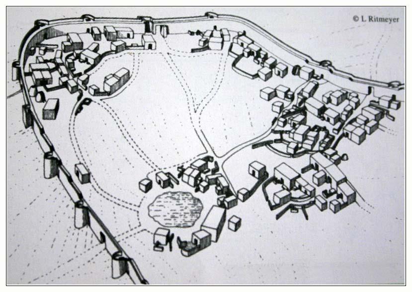 тель арад - план хананейского города