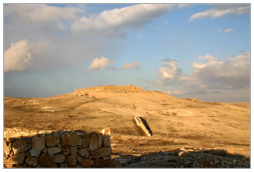 Национальный парк Тель Арад - вид на иудейскую крепость