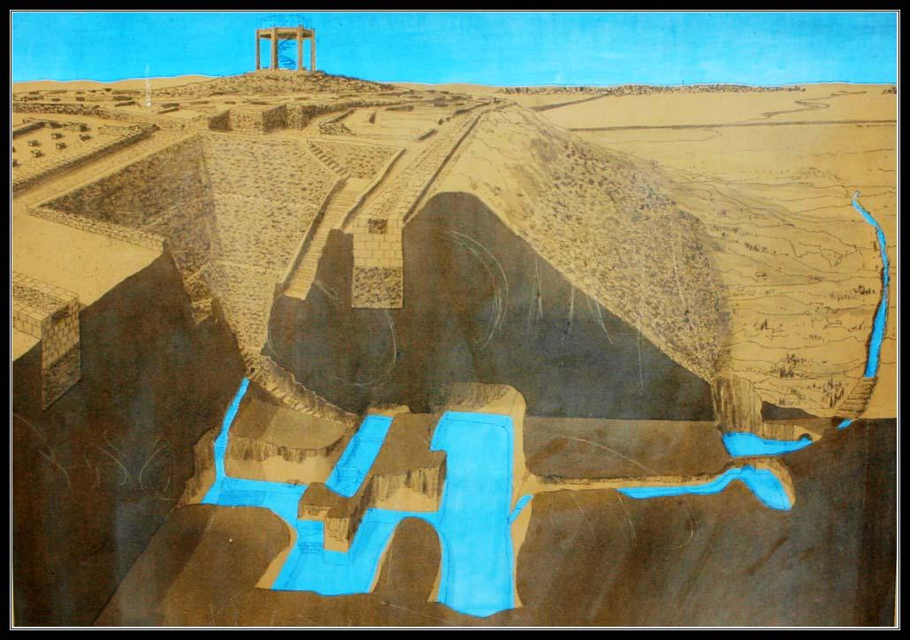 Тель шева - рисунок системы водоснабжения города